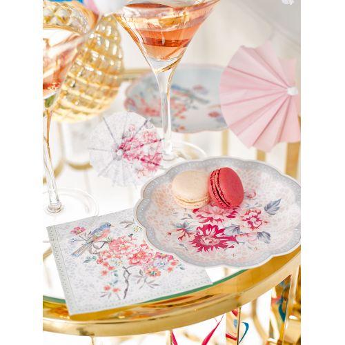 Papírové deštníčky do pohárů Romantic
