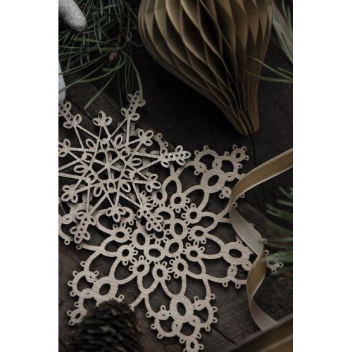 Dřevěná vánoční ozdoba Snow Crystal