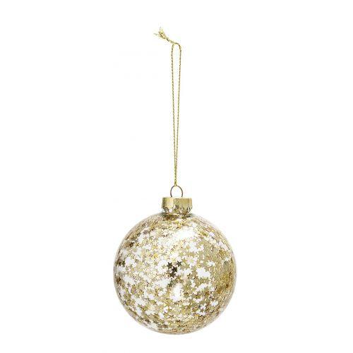 Vánoční baňka Gold Stars & Glass