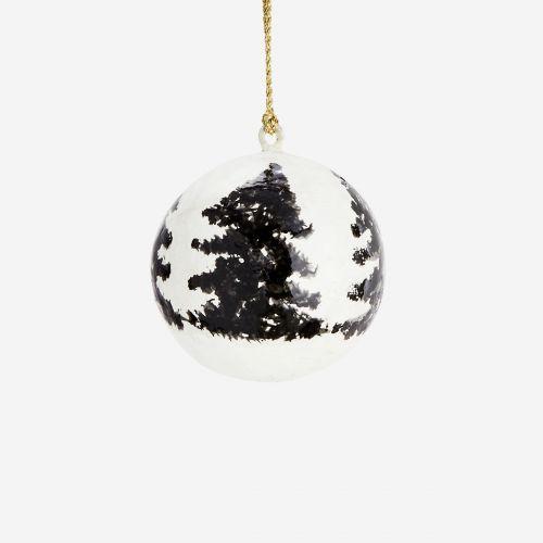 Vánoční baňka Trees White - 4 cm