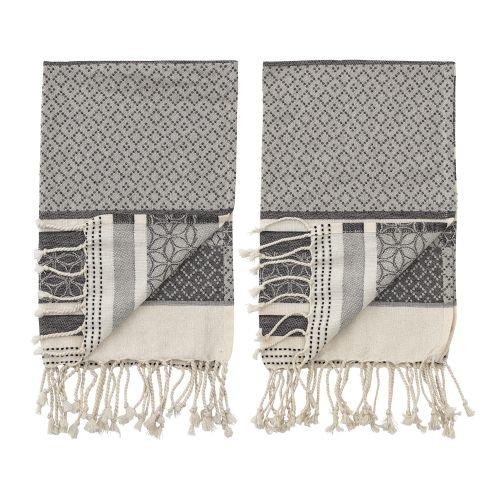 Bavlněná utěrka Grey Cotton 70×45 cm - set 2 ks