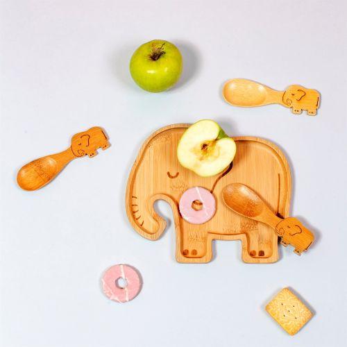 Dětský bambusový talířek Elephant
