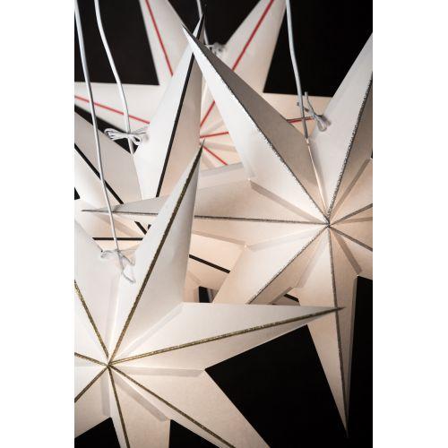 Závěsná svítící hvězda Linje Silver 60 cm