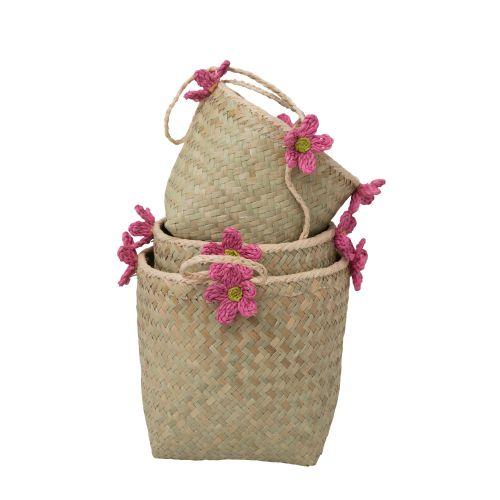 Závěsné košíky Pink Flowers