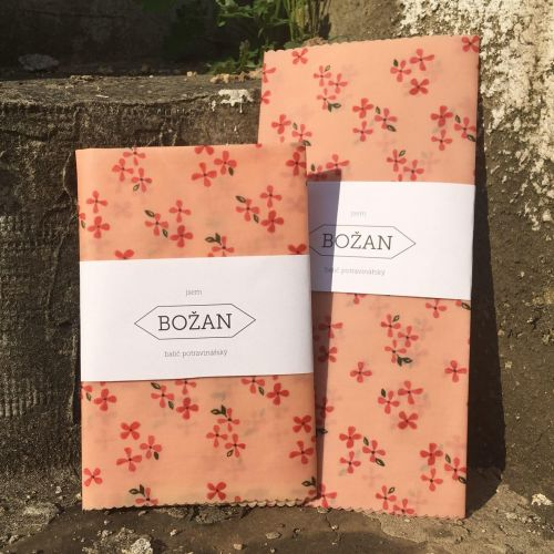 Voskovaný ubrousek Růžové Květy 40 × 40 cm