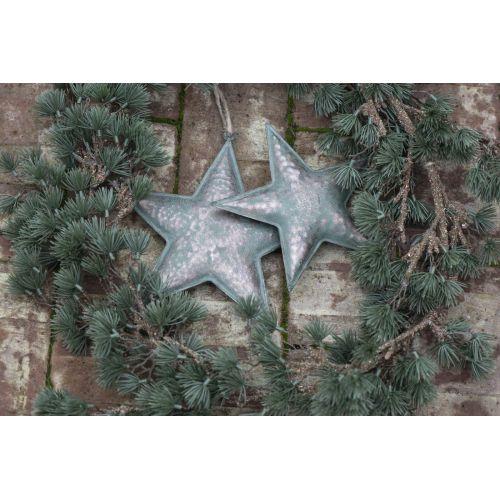 Kovová závěsná hvězda Army Green 21 cm