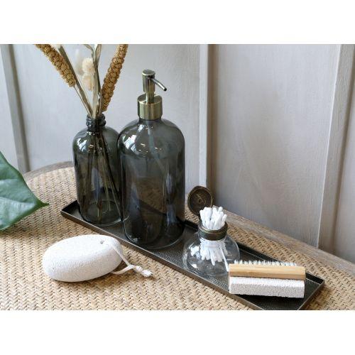 Skleněný dávkovač na mýdlo Coal 1 l