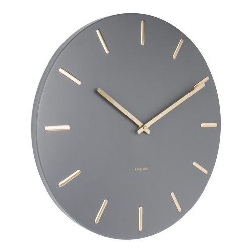 Nástěnné hodiny Charm Grey