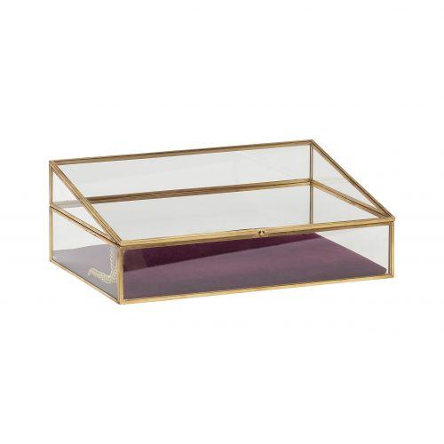 Skleněný box Velvet