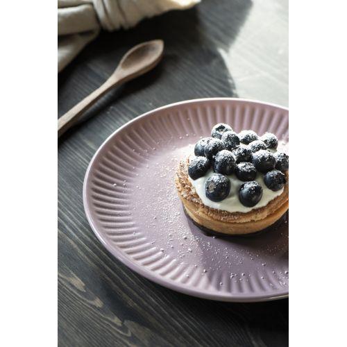Vroubkovaný talíř Mynte Lavender 19,5 cm