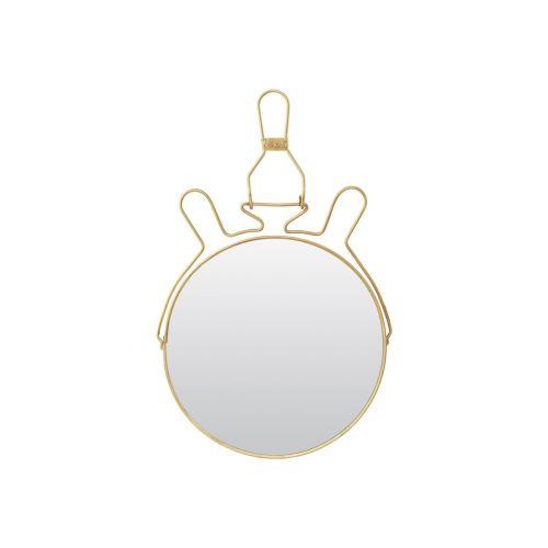 Kosmetické zrcátko se stojánkem Brass