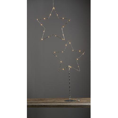 LED svítící hvězda na stojánku Sparkling