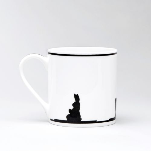 Porcelánový hrnek Yoga Rabbit
