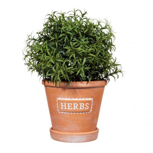 Keramický květináč s podmiskou Herbs