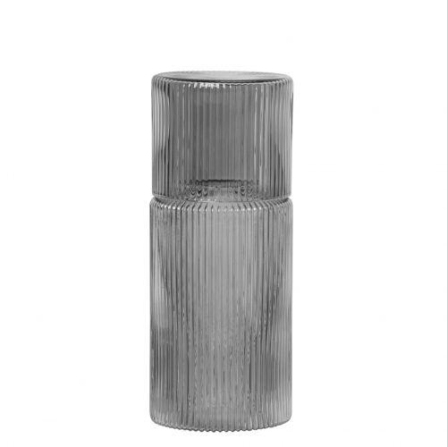 Karafa se skleničkou Ripple Smoked grey 500 ml