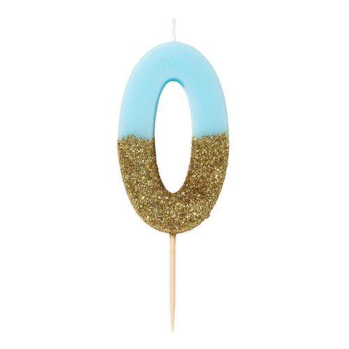 Narozeninová svíčka Blue Number 8 cm