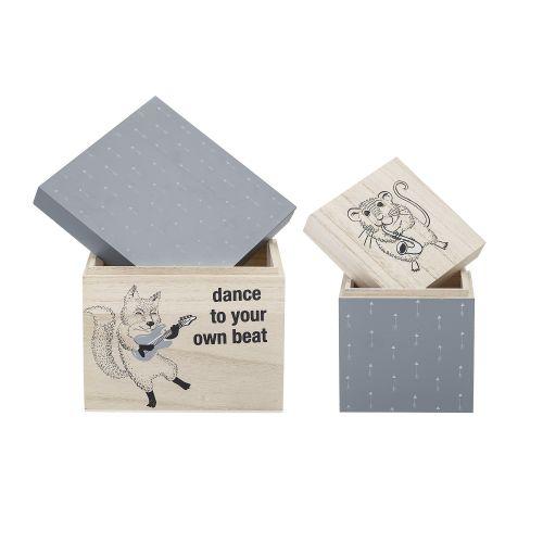 Úložný box Grey - set 2ks