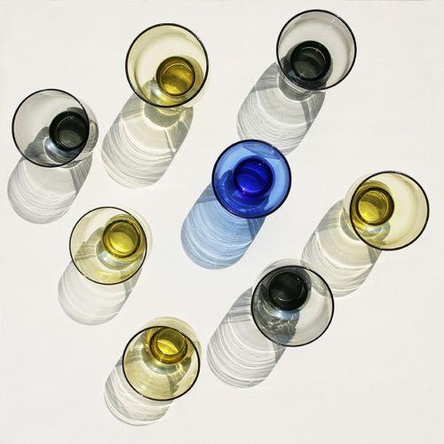 Sklenička Blue Cobalt Glass