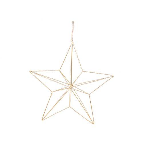 Závěsná svítící hvězda Star Gold 35 cm