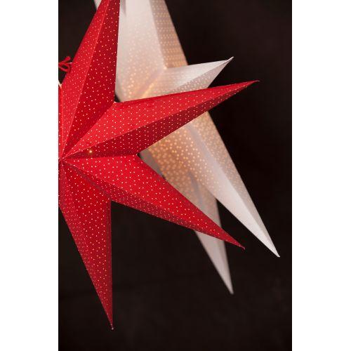Závěsná svítící hvězda Aino Red 44 cm