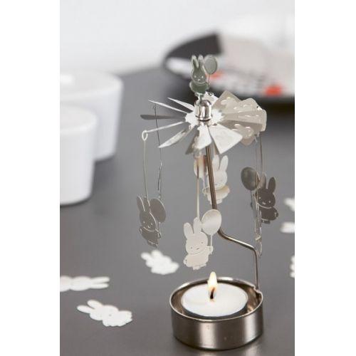Rotující svícen Silver Miffy