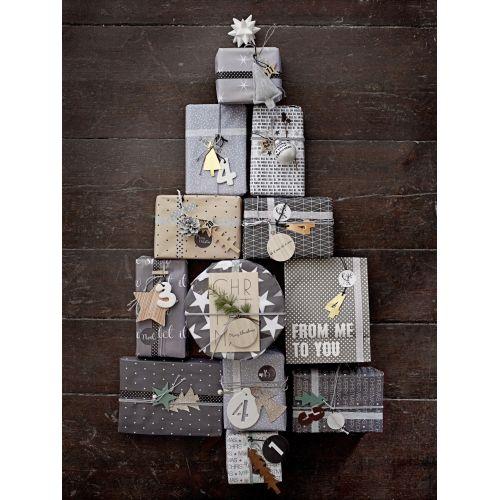 Vánoční dárkové štítky Black Print