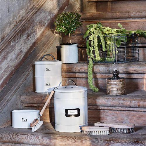 Plechový kbelík na kompost Hilma White