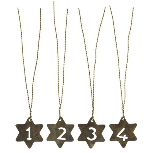 Zinkové adventní hvězdičky s drátkem Star