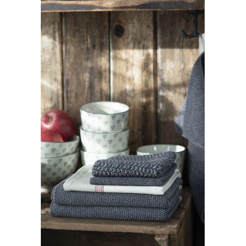 Pletený kuchyňský ručník Mynte Dark Grey Melange