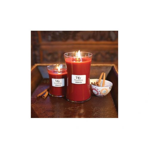 Vonná svíčka WoodWick - Skořice a chai 85 g