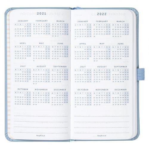 Plánovací diář Blue Faux Slim 2021