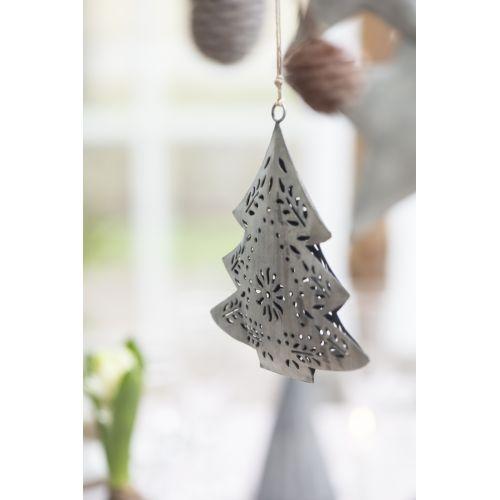 Plechový stromeček Grey