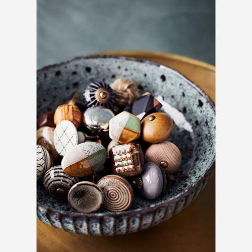 Porcelánová úchytka Brown Circles