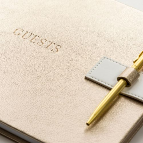Svatební kniha hostů Gold Faux