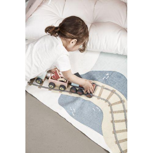 Dětský bavlněný koberec Edvin Woodland 170 x 130 cm