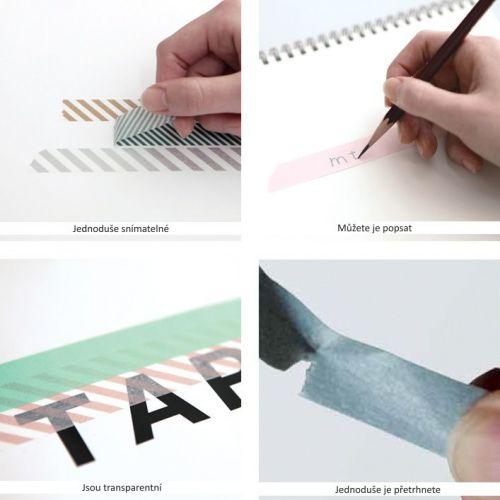 Designová samolepící páska Alphabet A-M