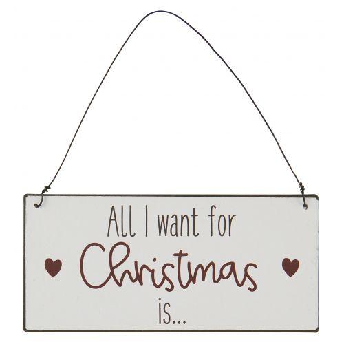 Plechová cedulka All I want for Christmas