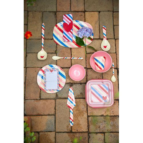 Melaminový talíř Candy Stripes