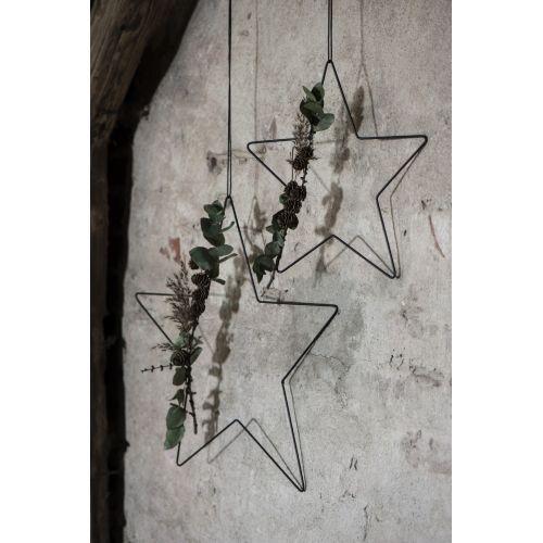 Vánoční dekorace Black Iron Star Large 45 cm