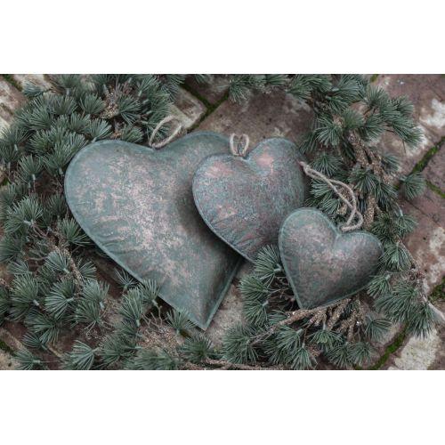 Kovové závěsné srdce Army Green 18 cm