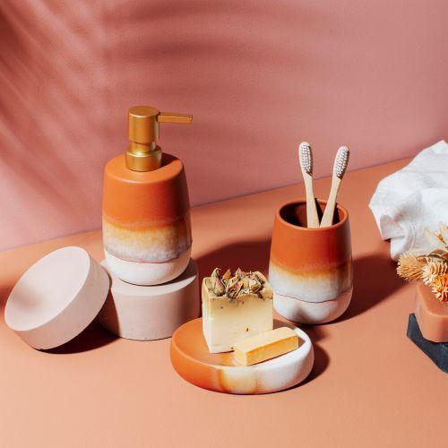 Keramický zásobník na mýdlo Mojave Glaze Terracotta