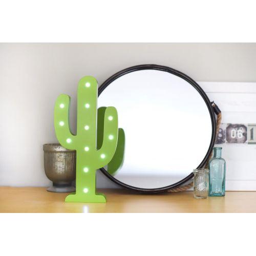Svítící zelený LED kaktus