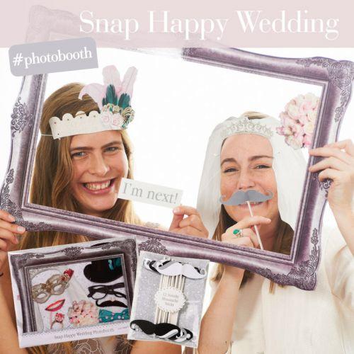 Rekvizity do svatebního fotokoutku - set 20 ks