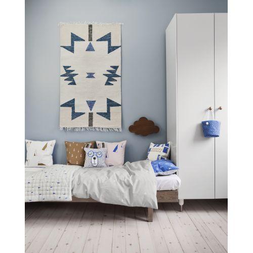 Vlněný koberec Kelim Blue Triangles