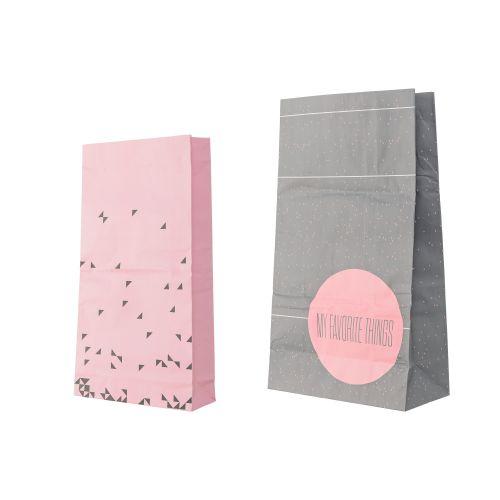 Dárkový papírový sáček Nude/Grey - velký