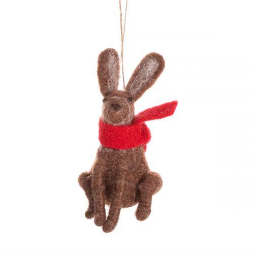 Plstěná vánoční ozdoba Hare