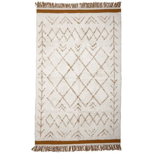 Bavlněný koberec Off white/Orange 200x120 cm
