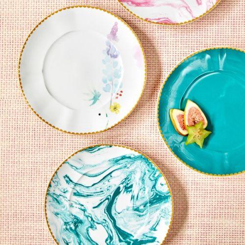 Porcelánový talíř Blue Lupin