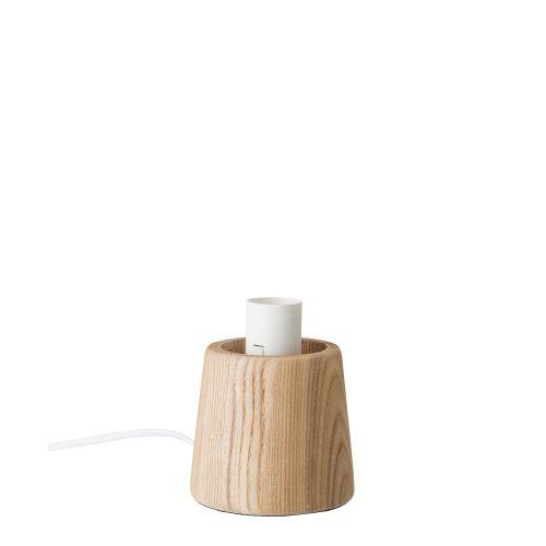 Lampička z jasanového dřeva - Ash Bulb White