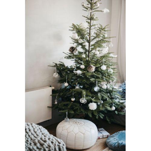 Vánoční baňka Leaves Clear - 8 cm